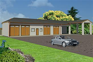 Projekt garażu WB-3806
