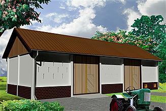 Projekt stodoły WB-3838