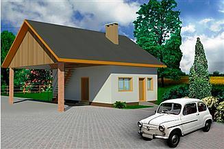Projekt garażu WB-3847