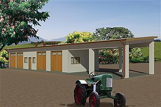 Projekt garażu WB-3860