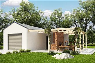 Projekt garażu G188 - Budynek garażowo - gospodarczy