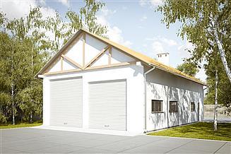Projekt garażu G218 - Budynek garażowo - gospodarczy