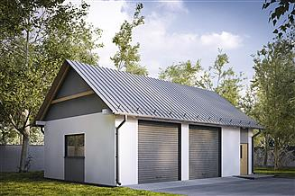 Projekt garażu G216 - Budynek garażowy