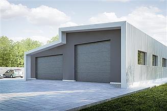Projekt garażu G211 - Budynek garażowo - gospodarczy
