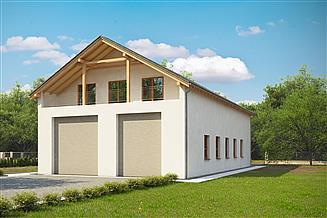 Projekt domu G200 - Budynek mieszkalno - garażowy