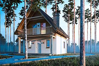 Projekt domu letniskowego G161 - Budynek letniskowy