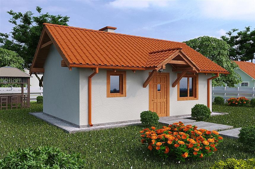 Projekt domu G134 - Budynek letniskowy
