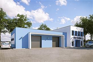Projekt warsztatu G205 - Budynek warsztatowy