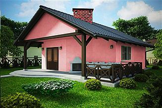 Projekt sauny G196 - Budynek rekreacyjny z sauną