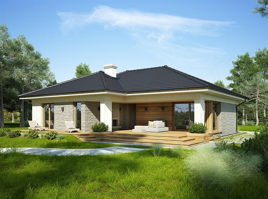 Projekt domu oceania 114 m2 koszt budowy 251 tys z extradom - Porche da letto ...