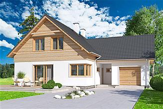 Projekt domu Jantar 2A garaż