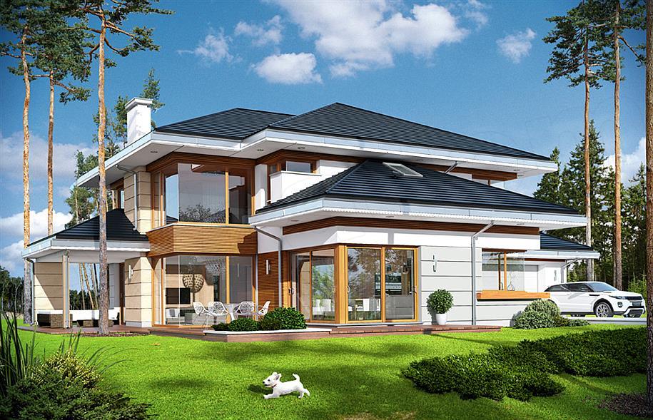 Projekt Dom Z Widokiem 269 44 M2 Koszt Budowy Extradom