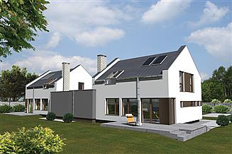 Projekt domu Murator BCC325 Preferowany (bliźniak)