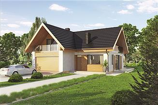 Projekt domu Murator C221a Racjonalny - wariant I