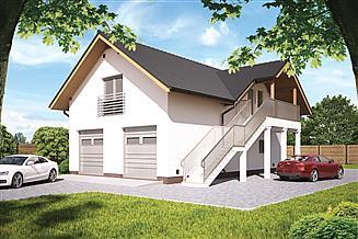 Projekt budynku gospodarczego Murator GC99 Garaż z częścią rekreacyjną