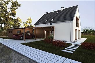 Projekt domu Murator PC312 Dla pokoleń (pasywny, z wentylacją mech. i rekuperacją)