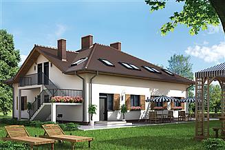 Projekt pensjonatu Murator UC47a Budynek rekreacyjny całoroczny (z pokojami gościnnymi)