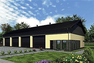 Projekt magazynu Murator GMC30a Budynek garażowo-magazynowy z pom. pomocniczymi