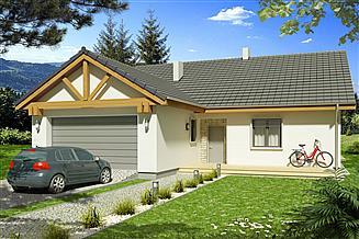 Projekt domu Ambrozja 2D 2-garaże