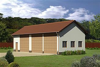Projekt garażu Murator GMC48 Budynek garażowo-magazynowy