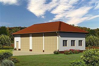 Projekt garażu Murator GMC48b Budynek garażowo-magazynowy