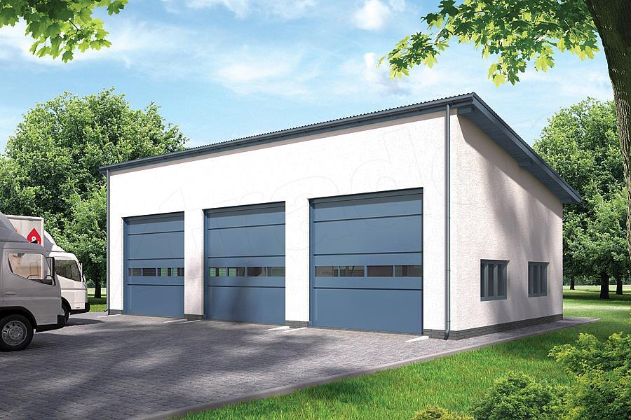 Projekt Garażu Murator Gmc20a Budynek Garażowo Magazynowy 1322 M2