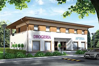 Projekt sklepu Murator UC51 Budynek mieszkalno-usługowy