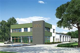 Projekt warsztatu Murator U24a Budynek usługowy