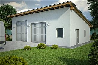 Projekt garażu G142 - Budynek garażowy