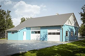 Projekt garażu G229 - Budynek garażowo - gospodarczy