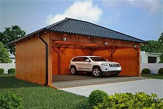 Projekt wiaty garażowej G136 - Wiata drewniana
