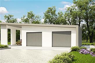 Projekt garażu G189 - Budynek garażowy