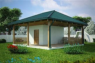Projekt budynku gospodarczego G125 - Budynek gospodarczy