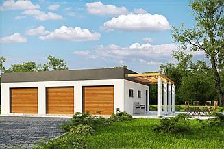 Projekt garażu G185 - Budynek garażowo - gospodarczy