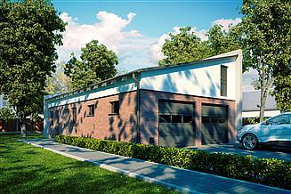 Projekt garażu G158 - Budynek garażowo - gospodarczy