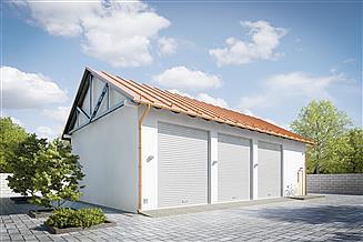 Projekt garażu G206 - Budynek garażowo - gospodarczy