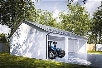 Projekt wiaty garażowej G219 - Wiata murowana