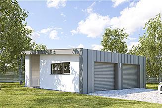 Projekt garażu G197 - Budynek garażowy