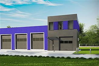 Projekt garażu G173 - Budynek garażowo-gospodarczy