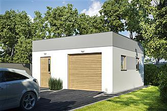 Projekt budynku gospodarczego G176 - Budynek garażowo - gospodarczy