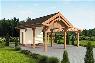 Projekt budynku gospodarczego G67 szkielet drewniany budynek gospodarczy