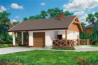 Projekt budynku gospodarczego G192 szkielet drewniany budynek gospodarczy