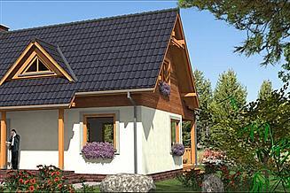 Projekt domu A-131 Dom szkieletowy
