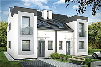 Projekt domu Emilia bliźniak PLP