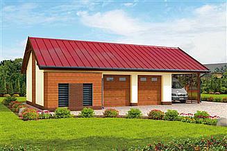 Projekt budynku gospodarczego G281 szkielet drewniany budynek gospodarczy