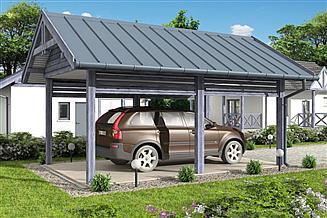 Projekt wiaty garażowej W3 Wiata garażowa jednostanowiskowa