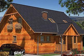 Projekt domu A-127 Dom z bali
