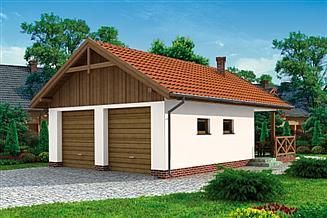 Projekt garażu G188 Szkielet drewniany