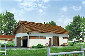 Projekt budynku gospodarczego BGS15 Budynek gospodarczy