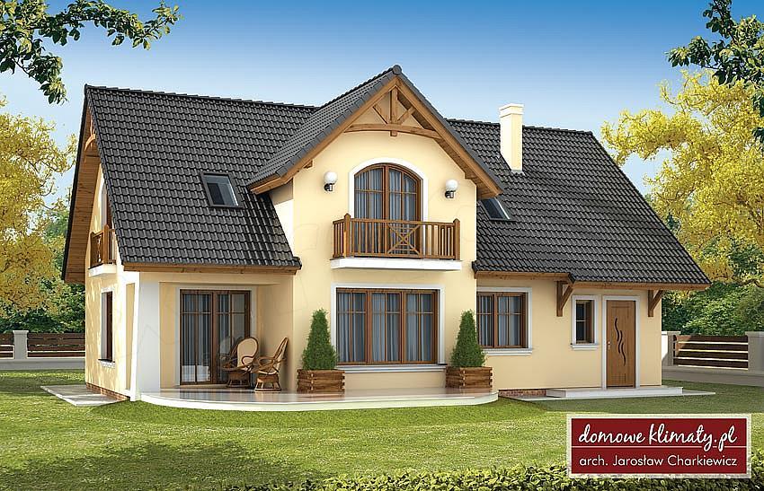 Tylko na zewnątrz Projekt domu Bławatek II 140 m2 - koszt budowy - EXTRADOM NK34